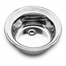 Мойка D490-08 круглая (0,8) крепеж+сифон
