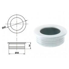 Ручка купе круглая d=35мм, 5145/13, белая