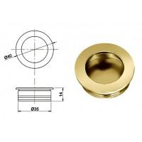 Ручка купе круглая d=35мм, 5145/01, золото