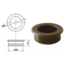 Ручка купе круглая d=35мм, №8, коричневая