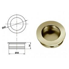 Ручка купе круглая d=35мм, 5145/02, матовый никель