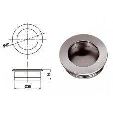 Ручка купе круглая d=35мм, 5145/03, матовый хром