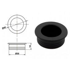 Ручка купе круглая d=35мм, №22, черная