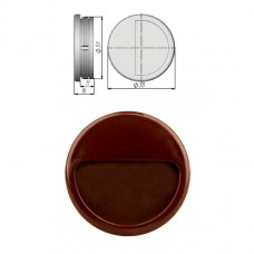 Ручка купе круглая, ракушка, d=51мм, № 8, темно-коричневая