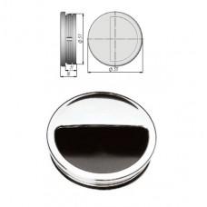 Ручка купе круглая, ракушка, d=51мм, хром