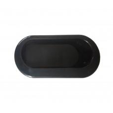 Ручка купе овальная, Tempo 071 77,2 х 35 мм, черная