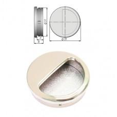 Ручка купе круглая, ракушка, d=51мм, матовый никель