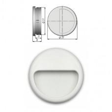 Ручка купе круглая, ракушка, d=51мм, №23, белая