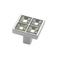 Ручка-кнопка с кристаллами 3022, хром