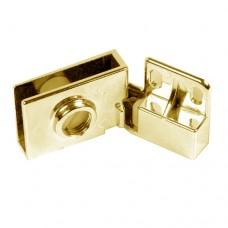 Петля для стекла Samet (MAKSAN) на 1 дверь, квадратная, золото